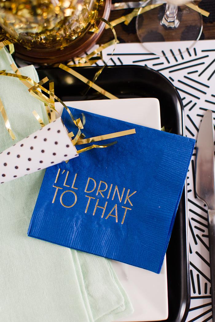 foil-printed-cocktail-napkins