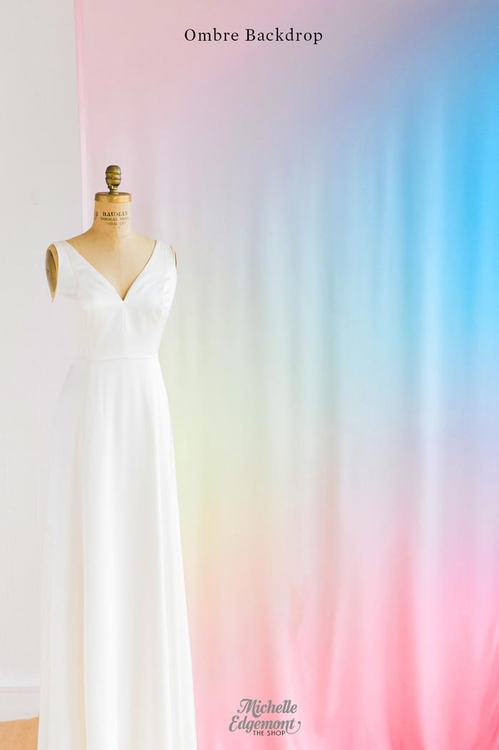Ombre-backdrop-wedding