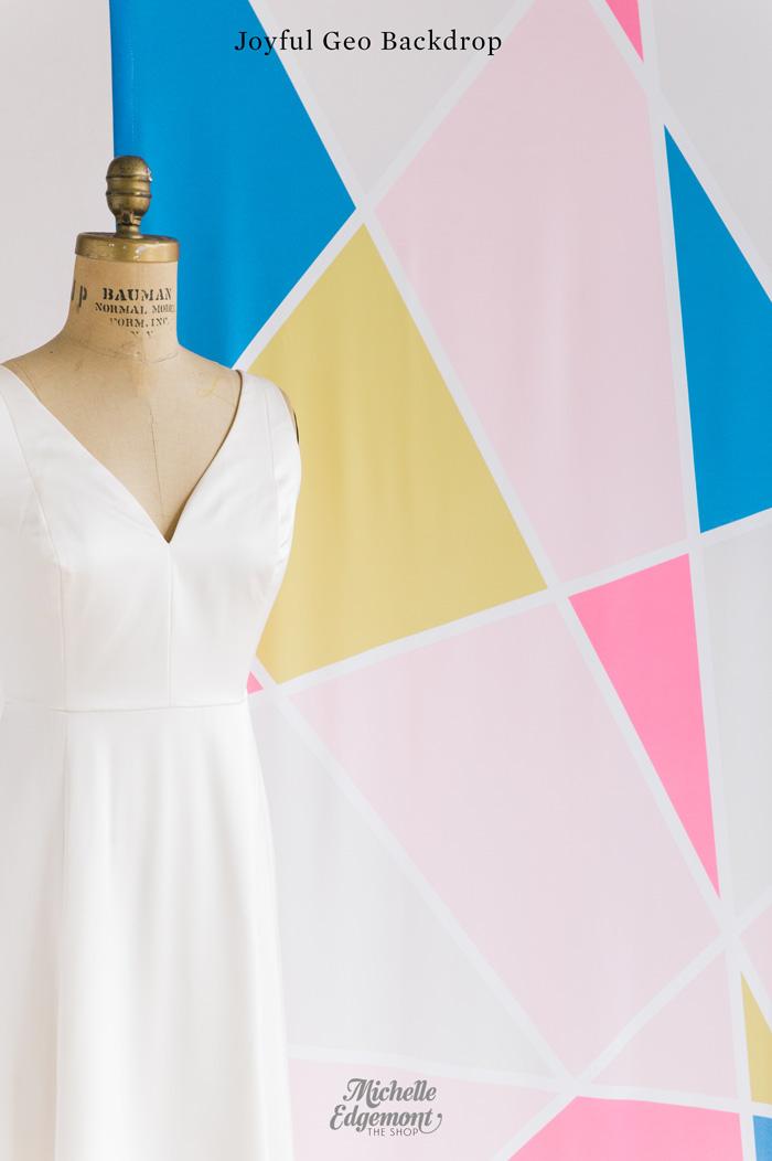 geometric-fabric-wedding-backdrop