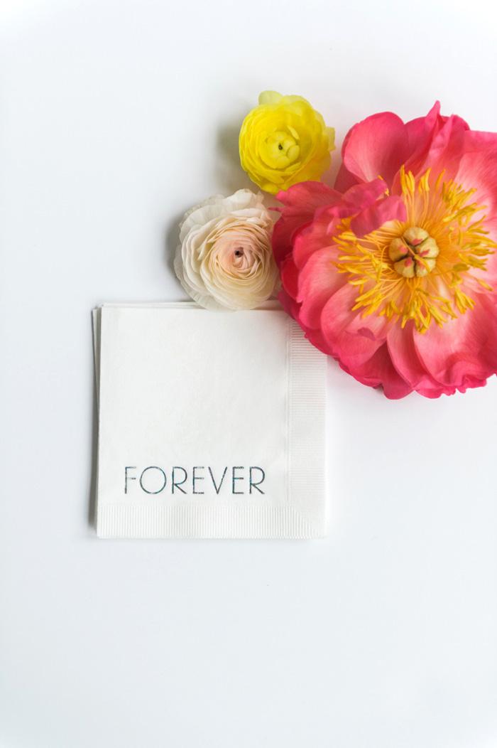 forever-cocktail-napkins-wedding