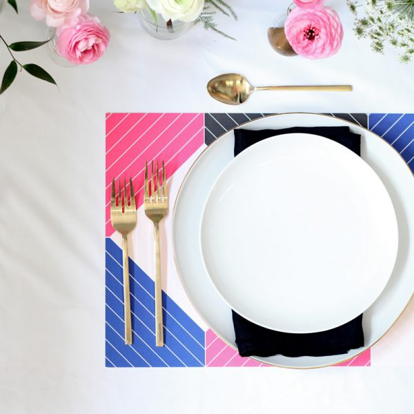 The Savvy Experience Geometric Placemat