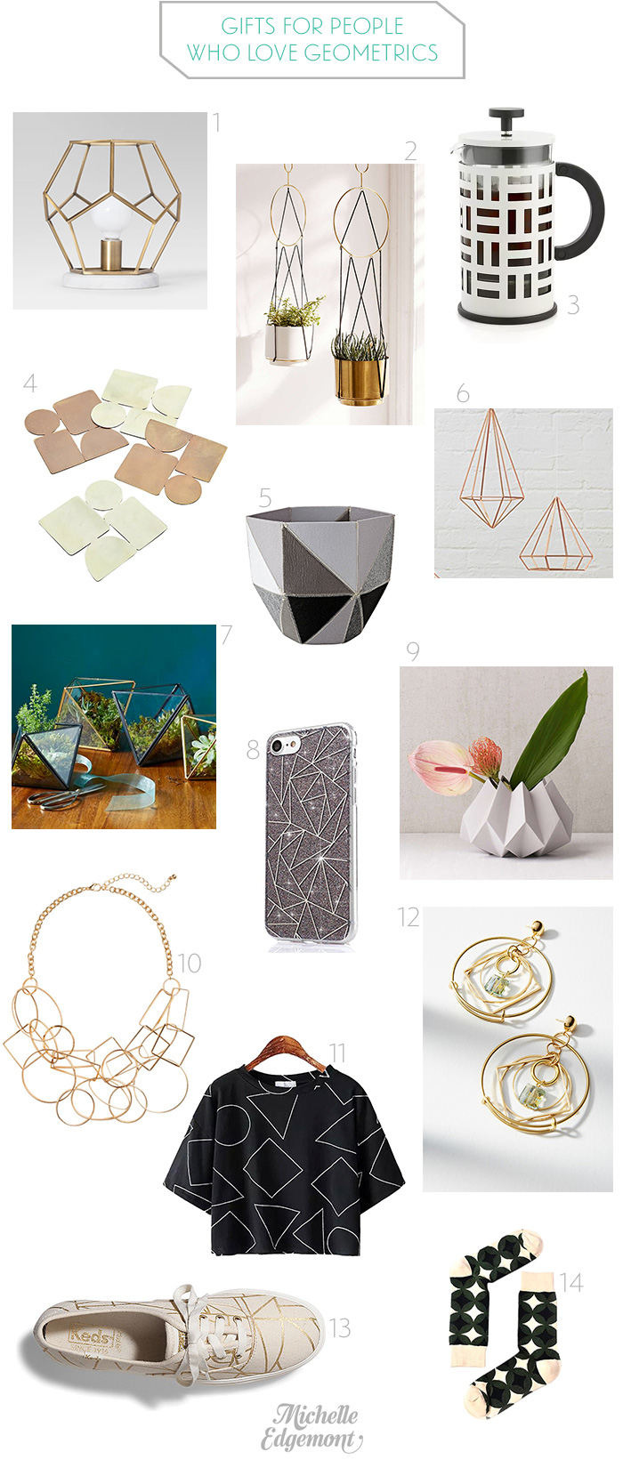 Gifts for people who love geometrics