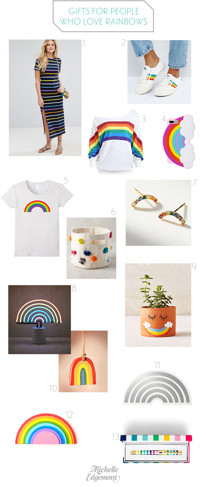 Gifts for people who love rainbows