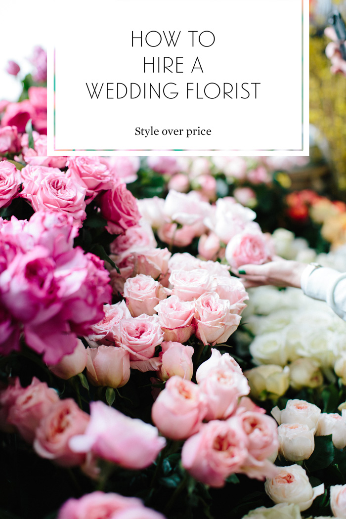 how to hire a wedding florist