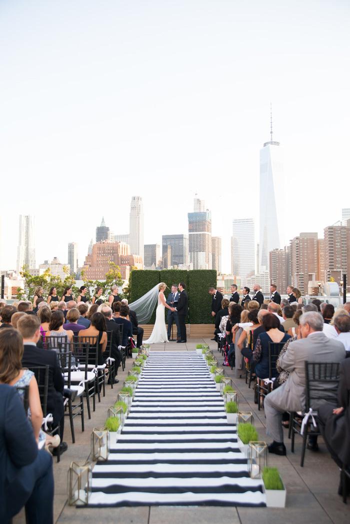Modern NYC Wedding at Tribeca Rooftop