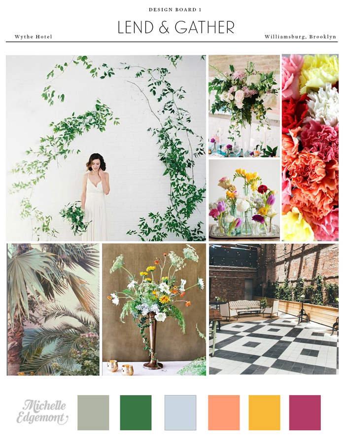 Floral Design for the Lend & Gather Conference