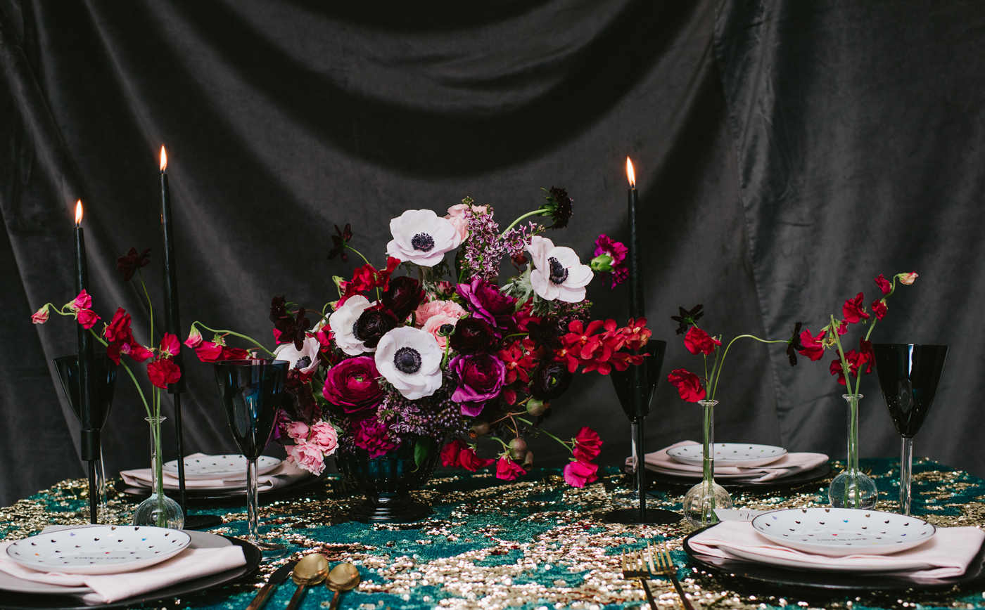 Moody Valentine's Day Floral Inspiration