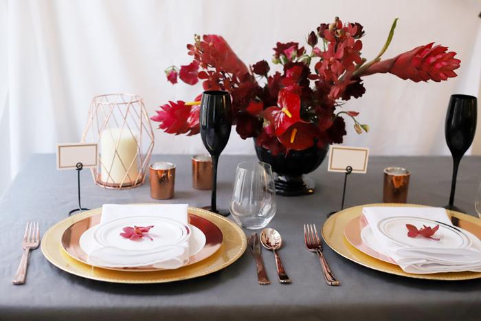 Three ways to use rose gold flatware