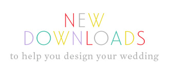 New Downloads to help you design your wedding.