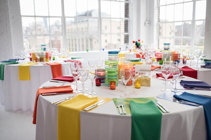 Rainbow Wedding Reception Nyc Event Designer And Florist