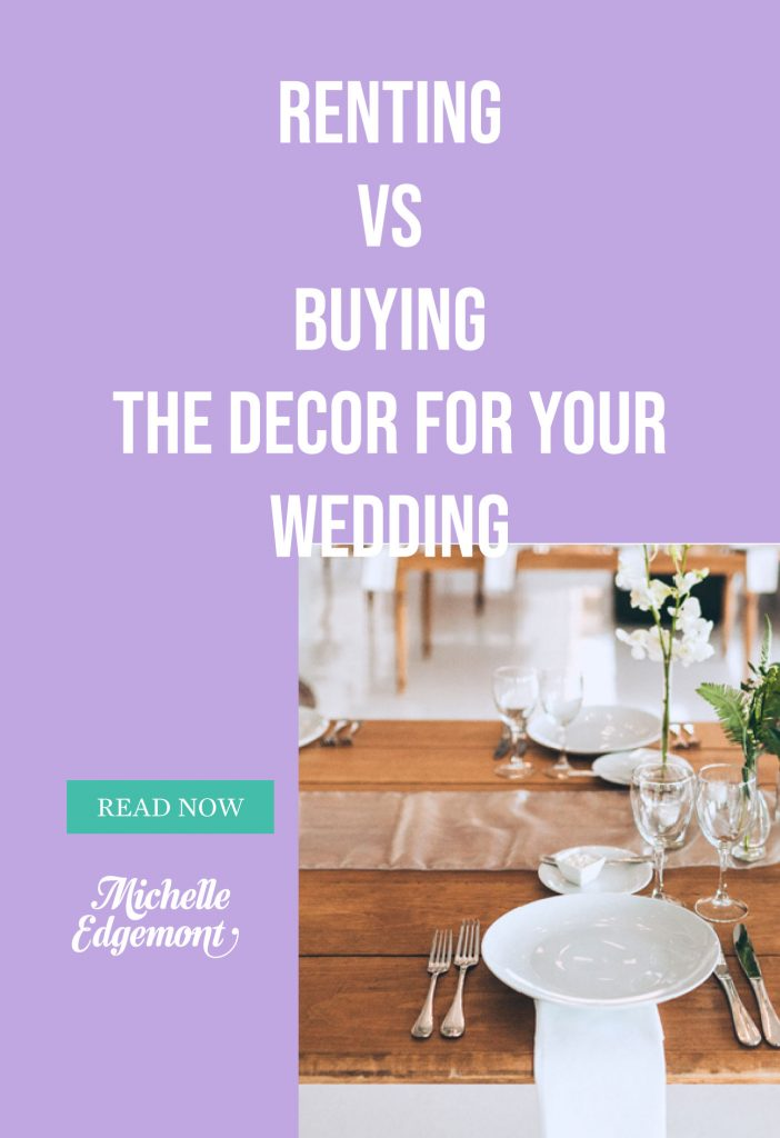 Renting vs Buying Decor, a pros and cons list